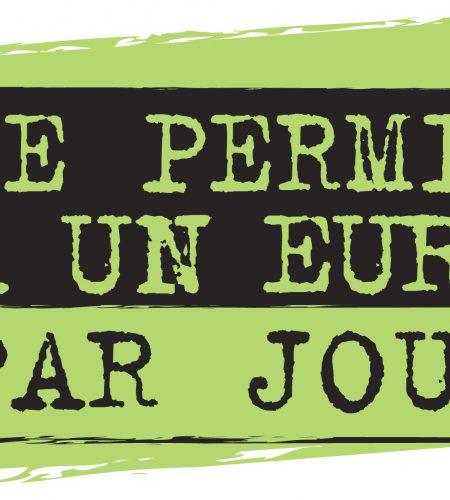 Logo Permis 1 Euro Jour Large Blavia